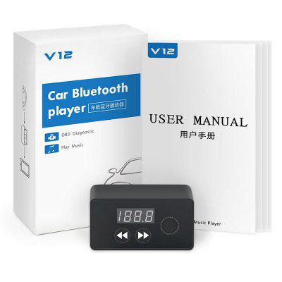 V12 Music Player OBD2 Bluetooth 4.0 Escáner de diagnóstico