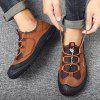 SENBAO Outdoor Sports Leather Men's Large Size Shoes - DEEP BROWN