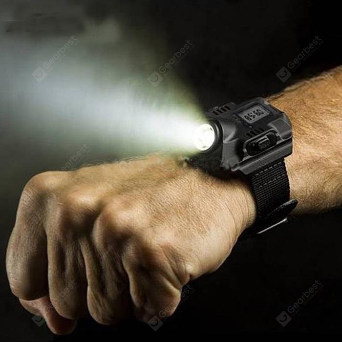 gocomma SOS LED Flashlight Watch - Black