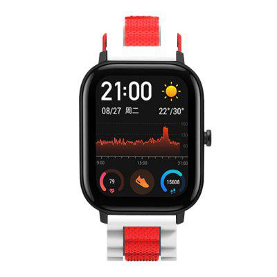 TAMISTER Three Beads Wave Silicone Two-color Replacement Strap for Amazfit GTS Smart Watch