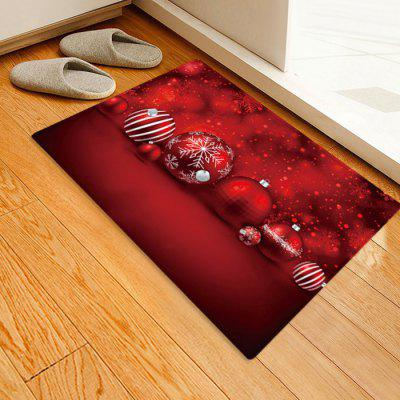 Cute Christmas Candy Pattern Printed Carpet Mat