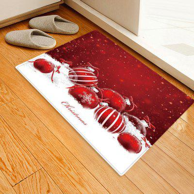 Seductive Christmas Candy Pattern Printed Carpet Mat