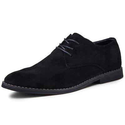 SENBAO Leather Point-toe Large Size Men's Lace Up Shoes