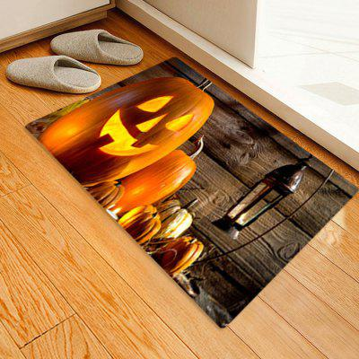 Christmas Series Pumpkin + Coal Lamp Pattern Printing Carpet Mat