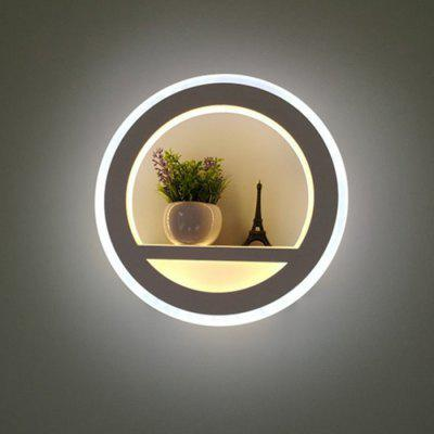 Nordic Modern Creative LED - Lámpara de pared redonda