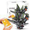 Mould King 13029 2.4G / APP Remote Control Smart Programming Multi-function Robot Building Blocks Dinosaur Toy Gift - BLACK