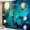 Sci-fi Style Cosmic Planet Pattern Print Tapestry - PEACOCK BLUE