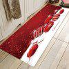 Seductive Christmas Candy Pattern Printed Carpet Mat - CHERRY RED