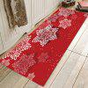 Festive Snowflake Pattern Printed Carpet Mat - RED