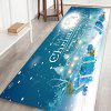 Christmas Series Cartoon Pattern Printed Carpet Decoration Mat - BLUE KOI