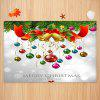 Christmas Theme Pendant Pattern Printed Carpet Mat - MILK WHITE
