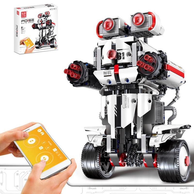 Mould King 13027 DIY Intelligent Programmable Robot Remote Control Building Blocks Toy - White
