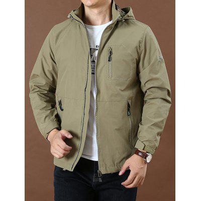 Men's Fashionable Outdoor Sports Jackets Hooded Design