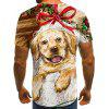 Men's Christmas Series 3D Print Short Sleeve T-shirt - MULTI-B