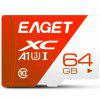 EAGET T1 High Speed ​​UHS - I Flash TF-geheugenkaart - ROOD