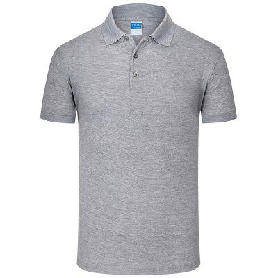 TS 81 Heren turn-down kraag Slim stretch Sneldrogend T-shirt korte mouwen