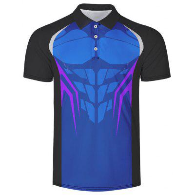 Men's Turn-down Collar Short Sleeve T-shirt