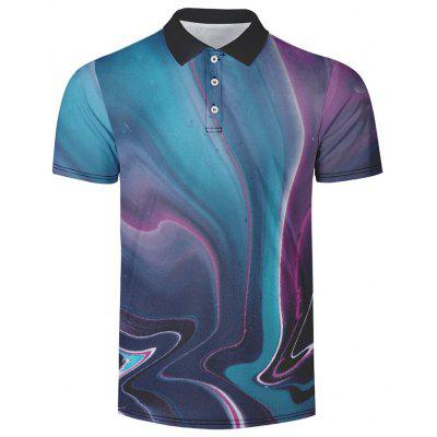 Men's Summer Turn-down Collar Short Sleeve T-shirt