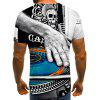 Male Sound Instrument Turntable Printed 3D Short Sleeve T-shirt - MULTI-B
