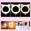 USB Charging Live Ring Light with Tripod Phone Holders - LIGHT PINK