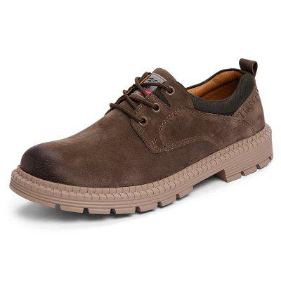 SENBAO Men's Classic Staining Workwear Lace-up Thick Bottom Martin Shoes