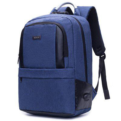 longyu10 - 8 Men's Business Contrast Color Large Capacity Laptop Backpack