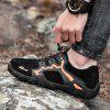 SENBAO Men's Outdoor Casual Shoes Genuine Leather Handmade Lace-up - BLACK