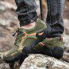 SENBAO Men's Outdoor Casual Shoes Genuine Leather Handmade Lace-up - ARMY GREEN