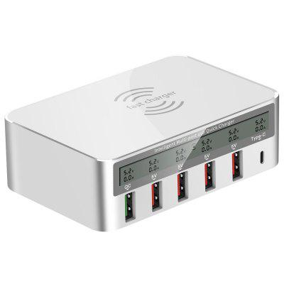 WLX - 818F Multi-port USB Smart draadloos oplaadcontact 10W