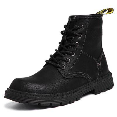 SENBAO Men's Classic High-top Martin Lace-up Wear-resistant Boots