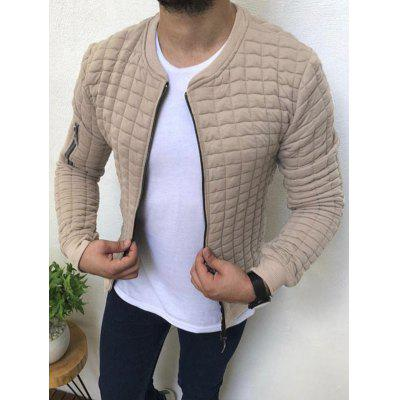 Men Casual Slim Simple Sports Solid Color Sweater Jacket