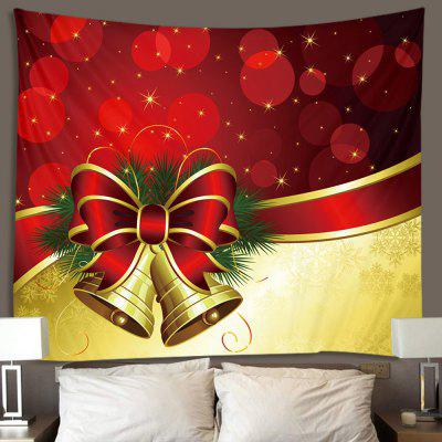 Christmas Series Bowknot Pattern Print Tapestry