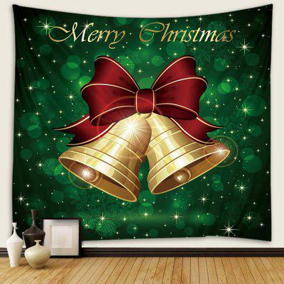 Christmas Series Cute Bell Pattern Print Tapestry