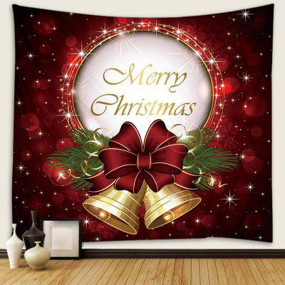Classic Letter + Bell Print Christmas Pattern Tapestry