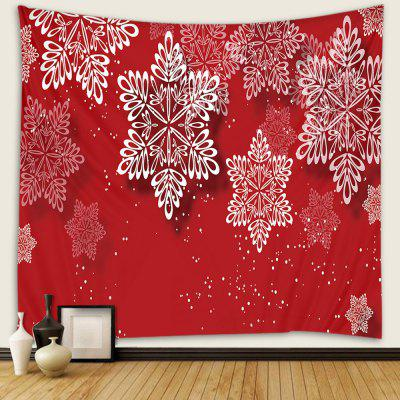 Beautiful Cartoon Snowflake Pattern Print Tapestry