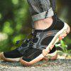 SENBAO Male Durable Anti-slip Lace-up Shoes Anti-collision Toe - BLACK