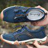 SENBAO Male Durable Anti-slip Lace-up Shoes Anti-collision Toe - BLUE
