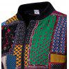 Men Plus Fat Large Size Coat Slim Korean Version Floral Baseball Jacket - MULTI-A