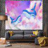 Playful Whale On Pink Clouds Digital Print Tapestry - MULTI-A
