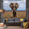 Elephant On The Prairie Digital Print Tapestry - MULTI-A