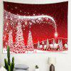 Christmas Series Abstract Cartoon Pattern Print Tapestry - RUBY RED