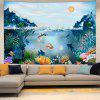 Goldfish Bay Under The Rising Sun Digital Print Tapestry - MULTI-A