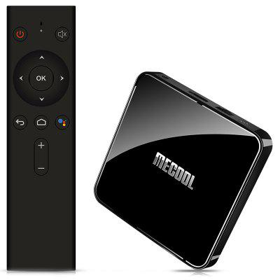 MECOOL KM3 ATV Google Minősített Amlogic S905X2 Android Pie 9.0 OS 4K TV Box with Voice Remote kétsávos Wi-Fi Bluetooth USB 3.0