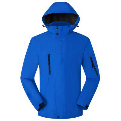 Pánska outdoorová priekopa Street Windproof Coat Waterproof Plus Velvet Thickening Mountaineering Jacket