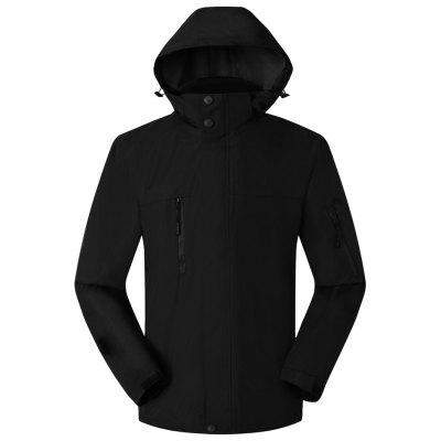 Men's Outdoor Street Brand Windproof Waterproof Plus Velvet Thickening Mountaineering Jacket