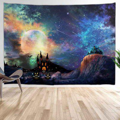 Meteor Shower Of Halloween Night Digital Print Background Tapestry