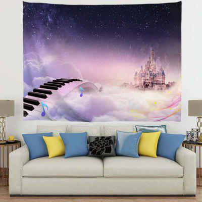 Musical Road To The Castle Digital Print Tapestry