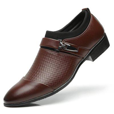 Men's Business Simple Fashion Dress Shoes Pointed Toe