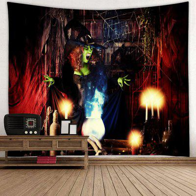 Halloween Witch Pattern Background Tapestry
