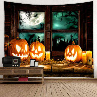 Halloween Pumpkin Pattern Background Tapestry